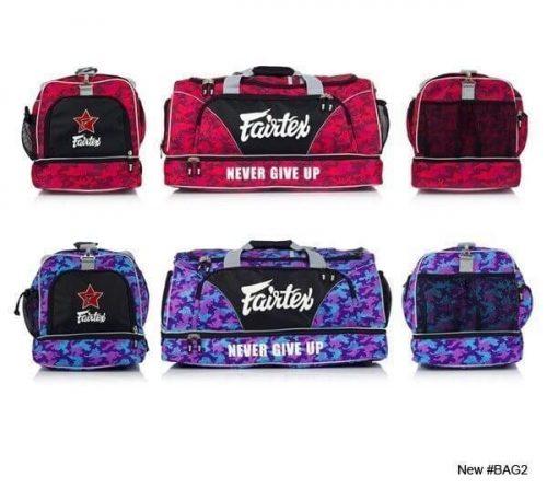 Fairtex Bag2 Gym Bag (Red Camo/Purple Camo)