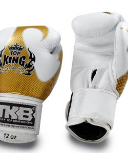 Top King Empower Creativity Boxing Gloves White Gold TKBGEM-01