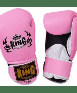 Top King Air Boxing Gloves Pink TKBGSA