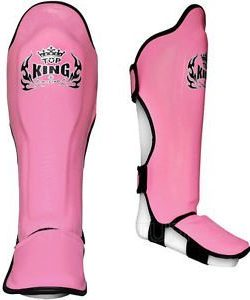 Pink Top King Shin Guards Pro Leather TKSGP