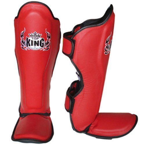 Red Top King Shin Guards Pro Leather TKSGP