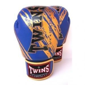 Image of Twins FBGV-TW2 Boxing Gloves Blue Gold