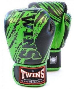 Image of Twins FBGV-TW2 Boxing Gloves Black Green