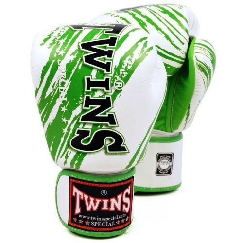 Image of Twins FBGV-TW2 Boxing Gloves White Green