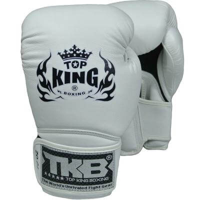 Top King Super Air Boxing Gloves White