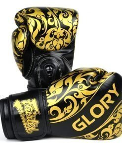 Fairtex Glory Boxing Gloves Black Gold BGVG2