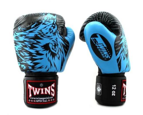 Twins Wolf Boxing Gloves FBGVL3-50 Light Blue