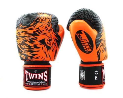 Twins Wolf Boxing Gloves FBGVL3-50 Orange