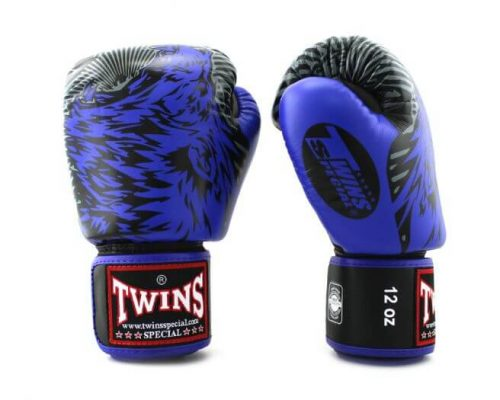 Twins Wolf Boxing Gloves Blue FBGVL3-50
