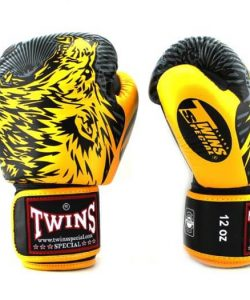 Twins Wolf Boxing Gloves FBGV3-50 Yellow