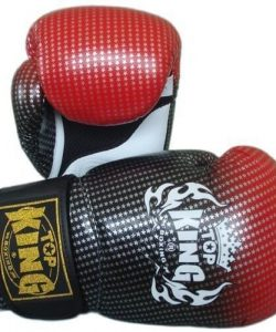 Top King Super Star Boxing Gloves Red