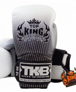 Top King Super Star Boxing Gloves Silver