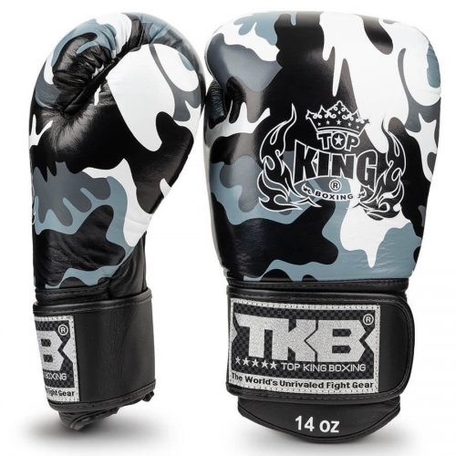 Top King Empower Camo Boxing Gloves Grey TKBGEM03