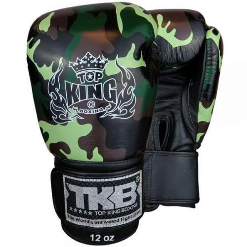 Top King Empower Camo Boxing Gloves TKBGEM03 Green