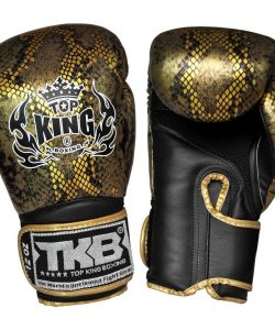 Top King Boxing Snake Boxing Gloves TKSGSS02-Black Gold