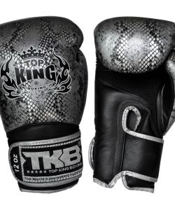 Top King Boxing Snake Boxing Gloves TKSGSS02-Black Silver