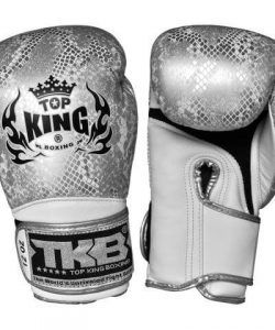 Top King Boxing Snake Boxing Gloves TKSGSS02-White Silver