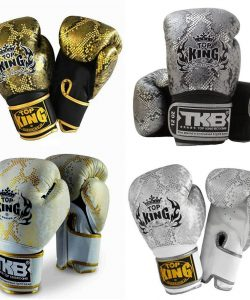 Top King Snake Skin Boxing Gloves