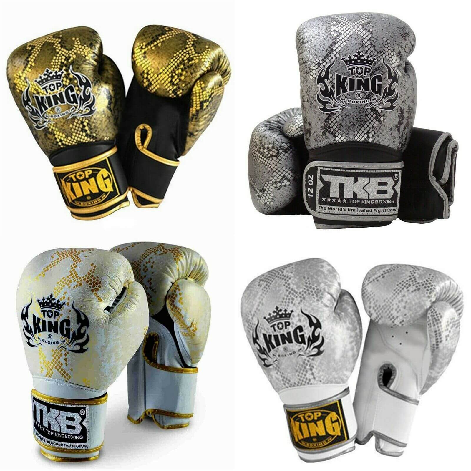 Snake Texture Boxing Gloves