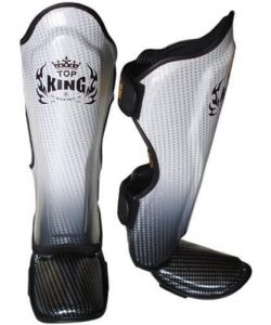 Top King Super Star Shinguards Silver/Black TKSGSS01