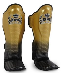 Top King Super Star Shinguards Gold/Black TKSGSS01