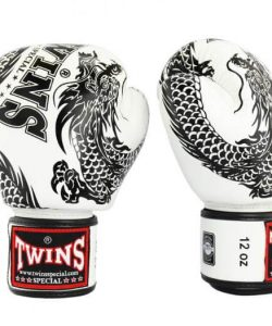 Twins Dragon Boxing Gloves - White/Black