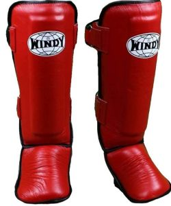 Windy Shin Pads LPL Red