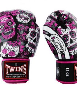 Twins Special Sugar Skull Boxing Gloves Pink