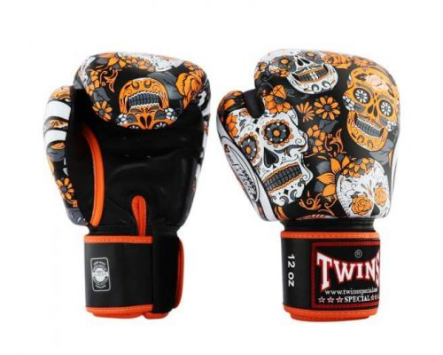 Twins Orange Skull Boxing Gloves