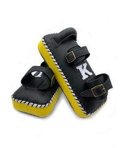 K muay thai double strap yellow