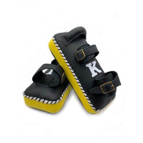 K muay thai double strap yellow