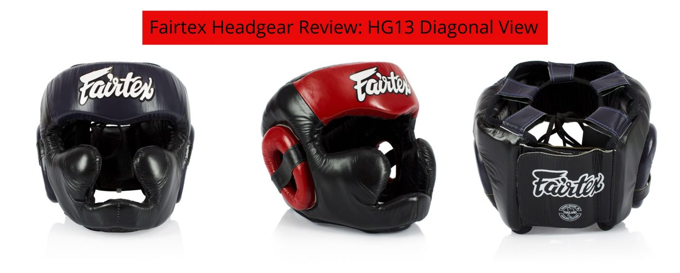 Fairtex Headgear Review: HG13 Diagonal View