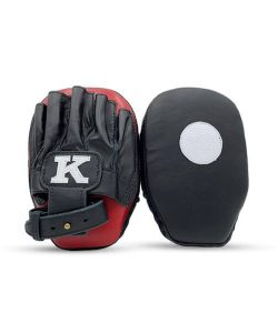 K Muay Thai Equipment Focus Mitts Small Black Red