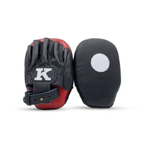 K Muay Thai Equipment Focus Mitts Small Black Red