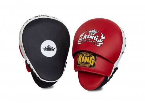 TOP KING FOCUS MITTS TKFMP BLUE YELLOW GENUINE LEATHER MUAY THAI MMA K1 TRAINING