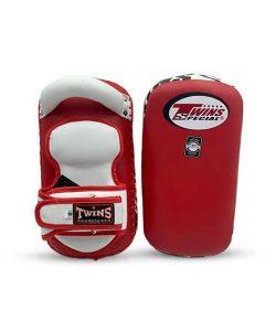 Twins Special Curved Kick Pads KPL-12  Black White M,L Training Muay Thai MMA K1