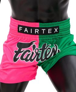 Fairtex Pink/Green Muay Thai Shorts BS1911